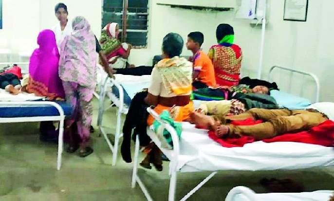 Food poisoning in Jharp | झरप येथे अन्नातून ७० जणांना विषबाधा