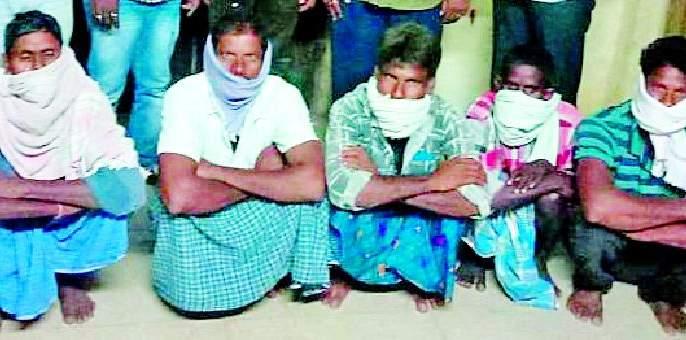 Five accused arrested with teak goods | सागवान मालासह पाच आरोपींना अटक