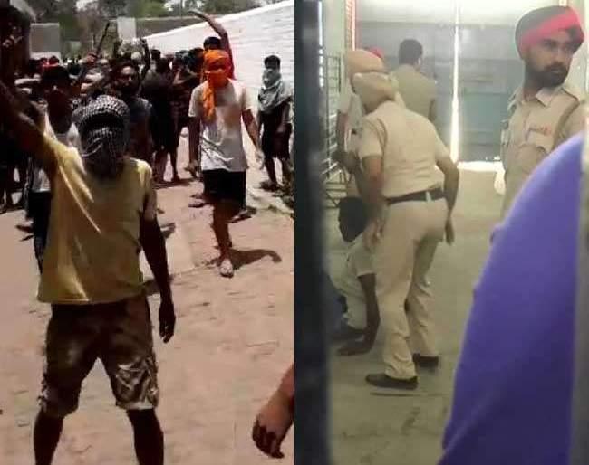 Violence in Ludhiana Central Jail; Death of a prisoner; Police fired | लुधियानाच्या सेंट्रल जेलमध्ये हिंसाचार; एका कैद्याचा मृत्यू; पोलिसांनी केला गोळीबार