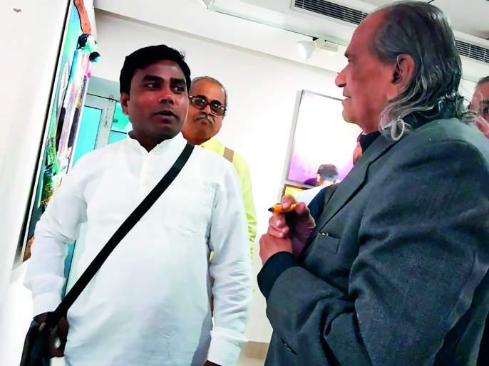 Hansraj Gawale's painting is honored in Delhi | हंसराज गवळे यांच्या चित्रकलेचा दिल्लीत गौरव
