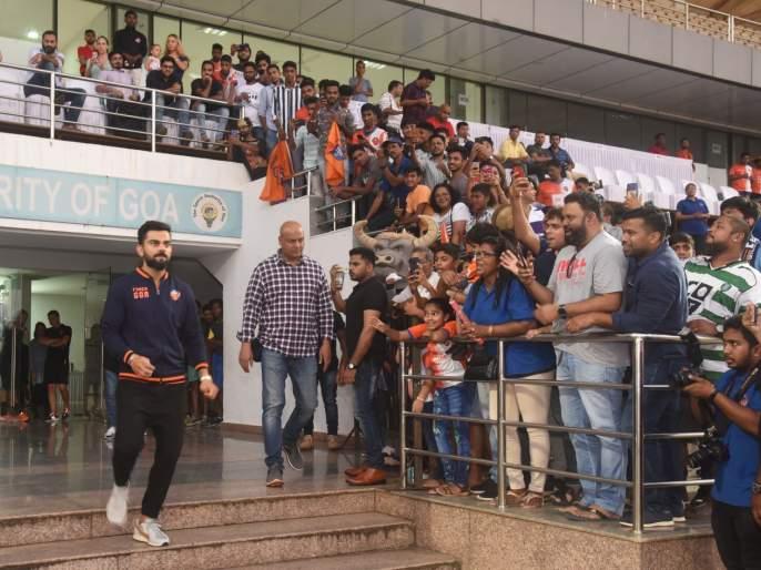 Virat Kohli's sudden 'entry' in Goa; The fans were shocked | विराट कोहलीची अचानक 'एन्ट्री'; चाहत्यांना बसला आश्चर्याचा धक्का