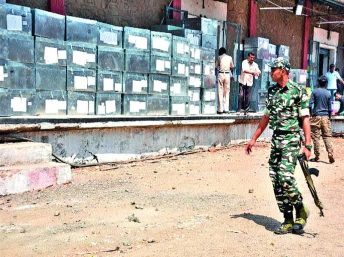 Siege of security arrangements by the Central Warehouse   सेंट्रल वेअरहाउसला चोहोबाजूंनी सुरक्षा व्यवस्थेचा वेढा