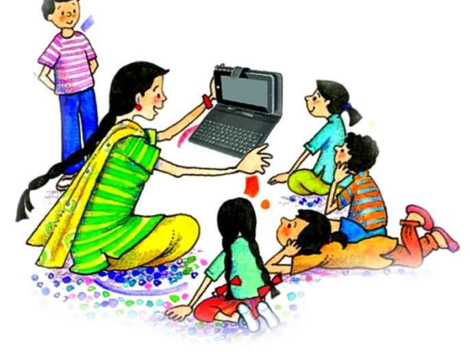 Tablet in the hands of Anganwadi supervisor in Nagpur district | नागपूर जिल्ह्यातील अंगणवाडी पर्यवेक्षिकेच्या हातात आले टॅबलेट