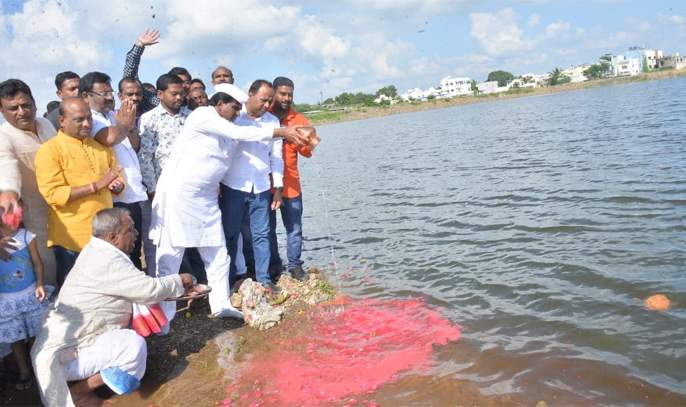 Five crore for beautification of Lake Mukteshwar | मुक्तेश्वर तलावाच्या सुशोभिकरणासाठी पाच कोटी