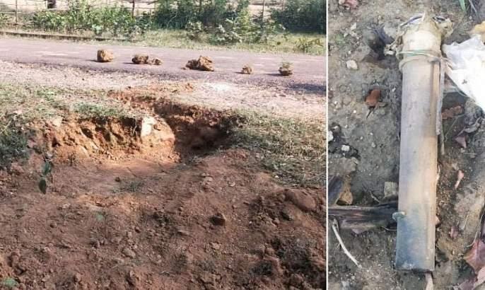 Landmine sacked by police in Gadkiroli | गडचिरोलीत नक्षल्यांनी पेरलेला भूसुरूंग पोलिसांनी केला निकामी