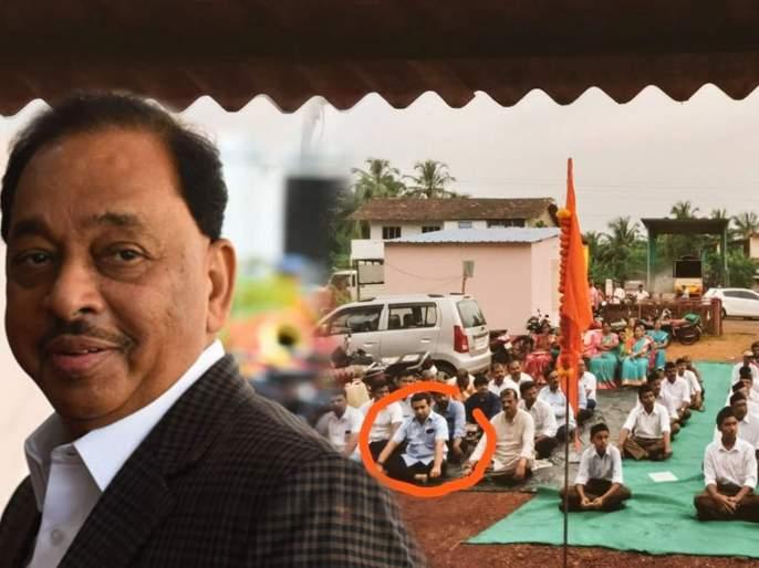 Nitesh Rane's meeting at the RSS event, Narayan rane explanation on photo   नितेश राणेंची संघ कार्यक्रमातील बैठक, नारायण राणेंचं 'हे' स्पष्टीकरण