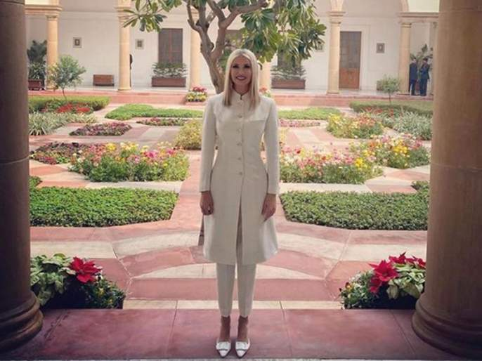 Donald Trump's India Visit : famous indian fashion designer anita dongre gets criticized for designing dress for ivanka trump SSS | Donald Trump's India Visit : ट्रम्प यांच्या लेकीची शेरवानी 'या' मराठी डिझायनरने बनवली, पण...