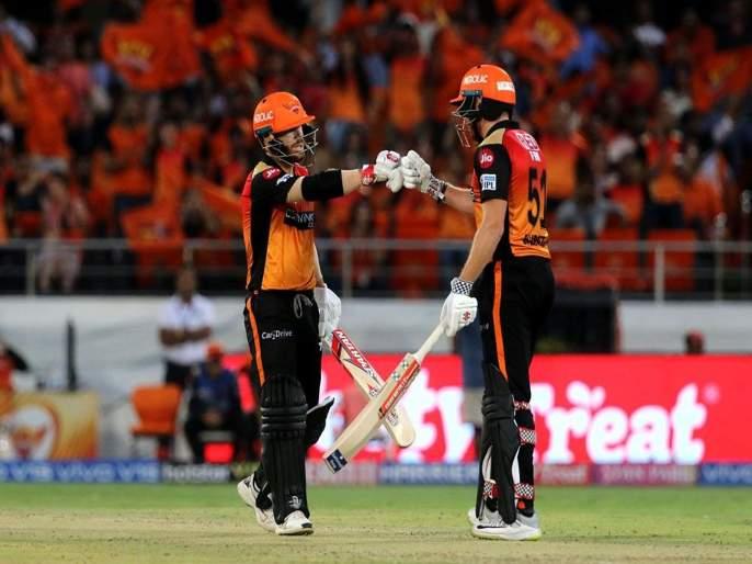 IPL 2019 SRH vs KKR: Sunrisers Hyderabad won by 9 wicket against Kolkata Knight Riders   IPL 2019 SRH vs KKR : कोलकाताची पराभवाची 'पंचमी', वॉर्नर-बेअरस्टो जोडीनं धु धु धुतले
