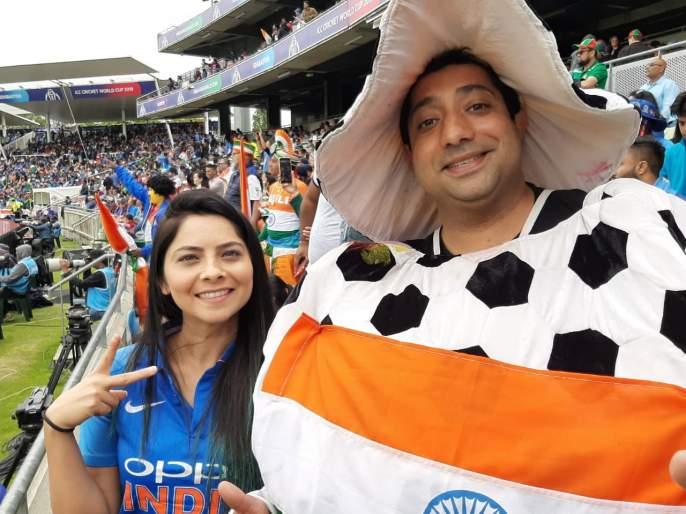 India vs Bangladesh, Latest News: 'Nutarang Fame' Sonali Kulkarni watching India's match , watch video | India Vs Bangladesh, Latest News : सोनाली कुलकर्णी इंग्लंडमध्ये लुटतेय भारताच्या सामन्याचा आनंद, पाहा व्हिडीओ