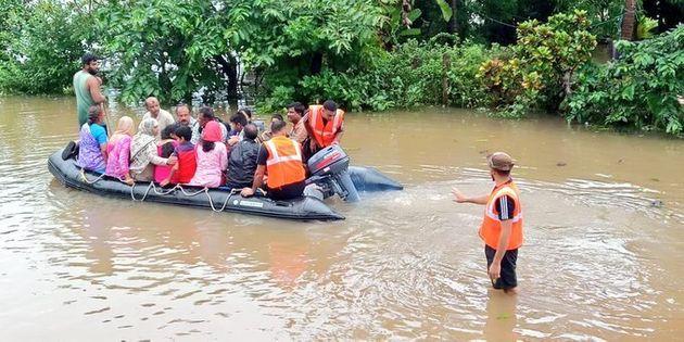 380 animals swept away in floods; 15,000 hens go missing   Solapur Flood; महापुरात वाहून गेली ३८० जनावरे; १५ हजार कोंबड्या बेपत्ता