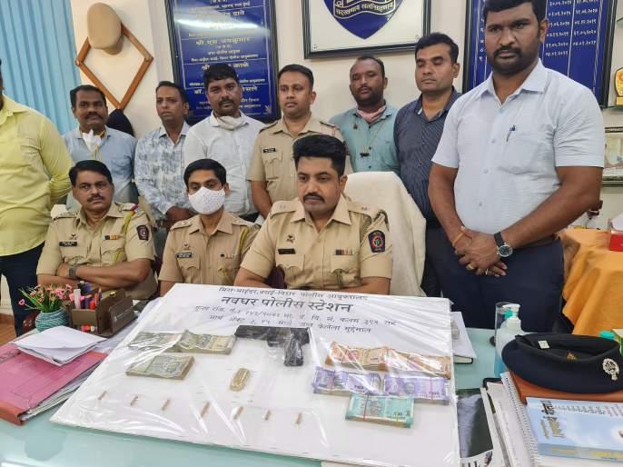 police arrest Accused of robbing in nalasopara | बंदुकीचा धाक दाखवून सराफाला लुटणाऱ्या आरोपीस अटक; लुटीचा सर्व मुद्देमाल जप्त