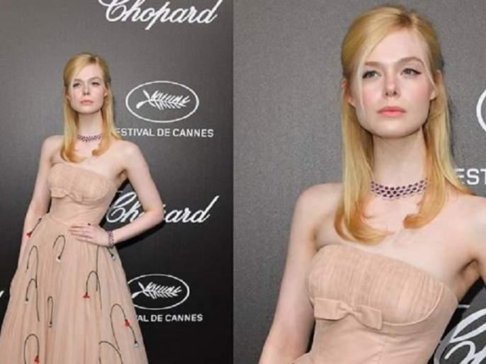 hollywood model elle fanning fainted because of her extreme tight dress | ड्रेस होता इतका घट्ट की मॉडेल पडली बेशुद्ध!