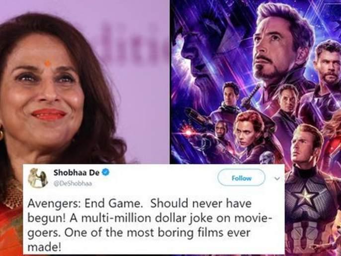Shobhaa De Calls 'Avengers: Endgame' A 'Boring' Film, So People Trolled her | म्हणे, 'अव्हेंजर्स एंडगेम' सर्वात कंटाळवाणा चित्रपट! शोभा डे झाल्या ट्रोल!!