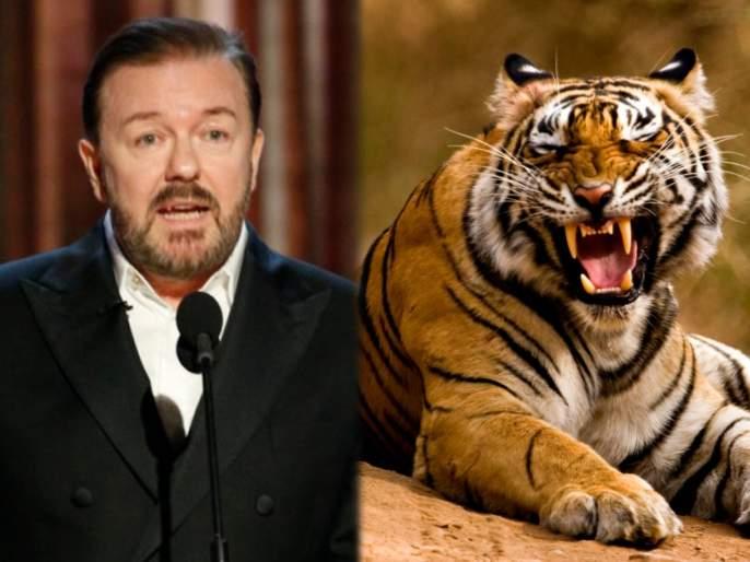 Ccomedian Ricky Gervais said that he wants to get feed by lions after his death | बडे दिलवाला! 'माझ्या मृत्यूनंतर मला वाघांसमोर खायला टाकाल', प्राण्यांवर 'या' अभिनेत्याचं इतकं आहे प्रेम...