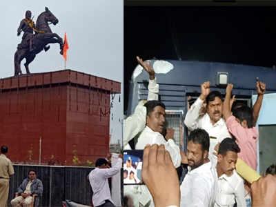 Yes. Dispute over the permission of Shivaji Maharaj's statue | छ. शिवाजी महाराजांच्या पुतळ्याच्या परवानगीवरून वाद