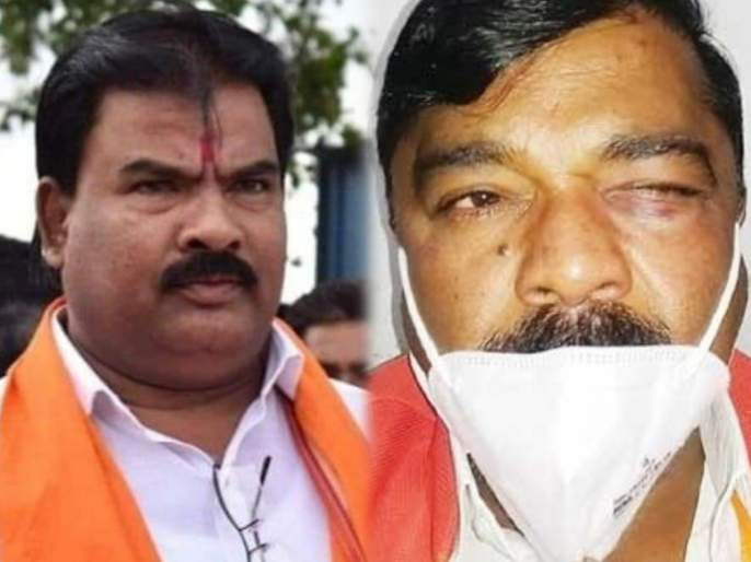 Sanjay Gaikwad: Former BJP MLA Vijayraj Shinde beaten up by Shivsena, tensions in Buldana | शिवसेना-भाजपात वाद पेटला; माजी आमदार विजयराज शिंदेंना मारहाण, बुलडाण्यात तणाव