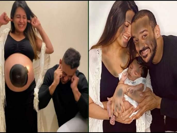 anita hassanandani and rohit reddy introduce their son aaravv with this explosive video   OMG! फटाका फुटला अन् बाळ अवतरलं...; अनिता हसनंदानीचा 'धमाका', दाखवला बाळाचा चेहरा