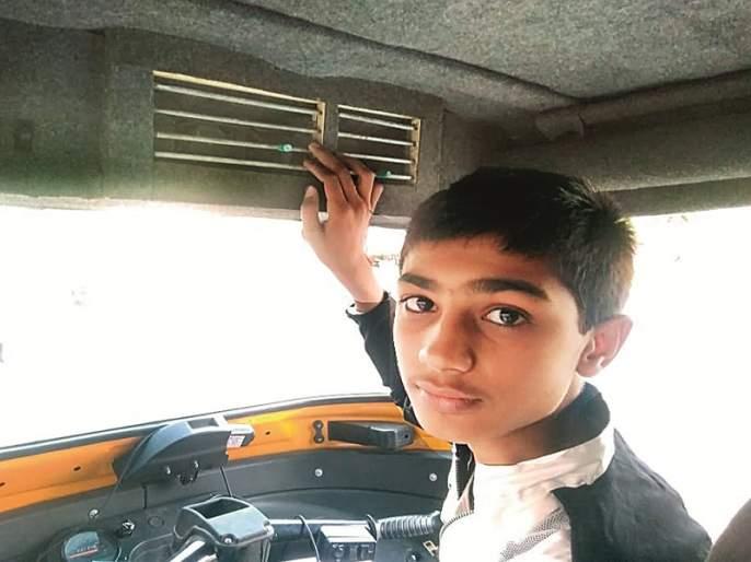 genius son set AC in father's auto rickshaw for relief from heat   उष्णतेमुळे वडिलांना होणाऱ्या यातना जिनिअस मुलाने केल्या 'शीतल'...