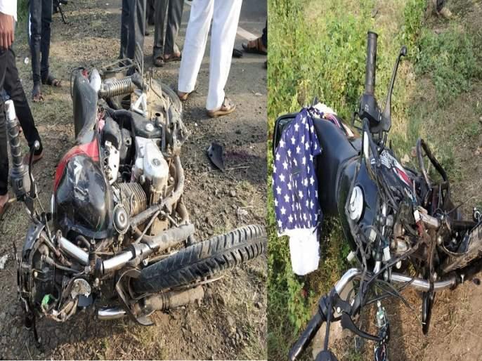 Three bikes meet an accident on the diversion road in Majalgaon; 3 killed on the spot | माजलगावात वळण रस्त्यावर तीन बाईक भिडल्या; तिघे जागीच ठार