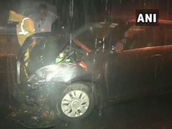 eight peoples were injured in a road accident in Mumbai | मुंबईत तीन वाहनांचा विचित्र अपघात, आठ जण जखमी