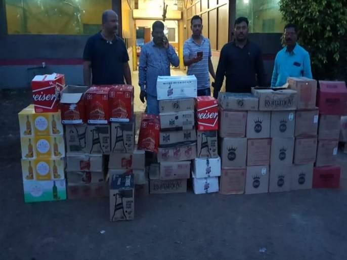 raid on online bingo station with illegal liquor by barmati crime branch | बारामती क्राईम ब्रँचचा अवैध दारुविक्रीसह ऑनलाईन बिंगो अड्डयावर छापा