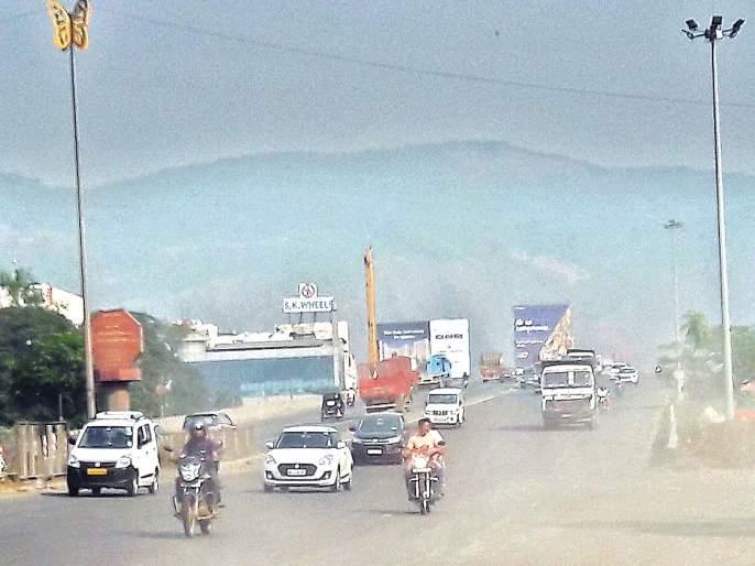 Navi Mumbai suffers from dust | धूलिकणांमुळे नवी मुंबईकर त्रस्त