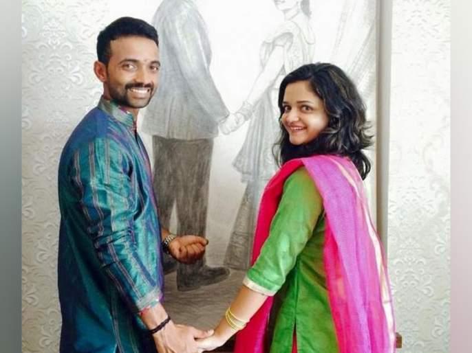 Good news: Ajinkya Rahane become a father | गोड बातमी : अजिंक्य रहाणेच्या घरी आली नन्ही परी!