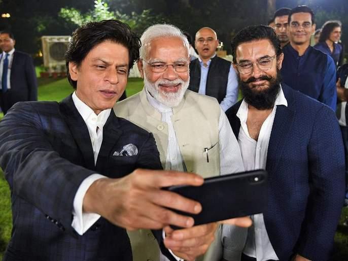 Bollywood actors gather at Narendra Modi's house   नरेंद्र मोदींच्या घरी बॉलिवूड कलाकारांची मांदियाळी