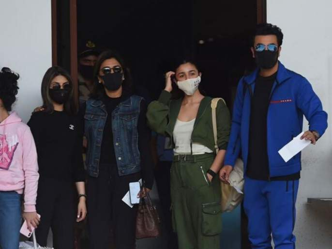 Alia Bhatt to celebrate New Year with Ranbir Kapoor's family, departed by private jet | रणबीर कपूरच्या कुटुंबासोबत आलिया भट करणार न्यू इअर सेलिब्रेशन, प्राइवेट जेटने झाले रवाना