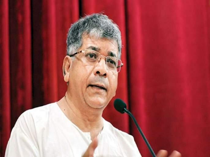 Left of the triangle of state; Prakash Ambedkar charged | राज्याच्या त्रिभाजनाचा डाव;प्रकाश आंबेडकर यांचा गंभीर आरोप