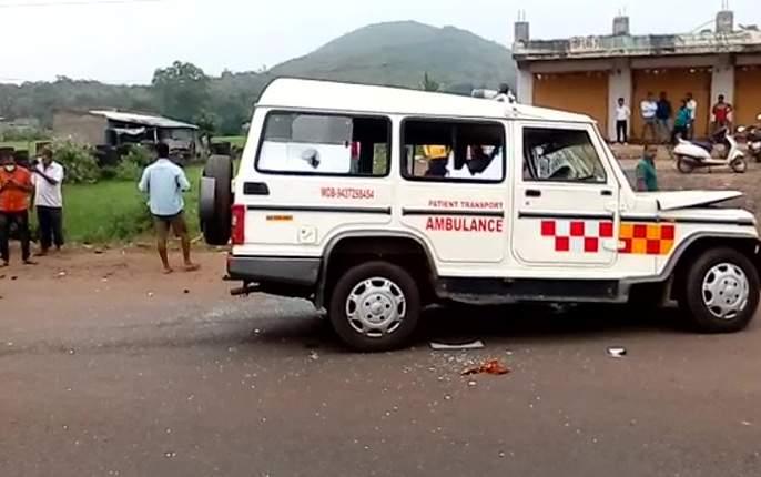 Three killed in ambulance and two-wheeler accident in jaipur | रुग्णवाहिका अन् दुचाकीचा भीषण अपघात, तिघांचा मृत्यू