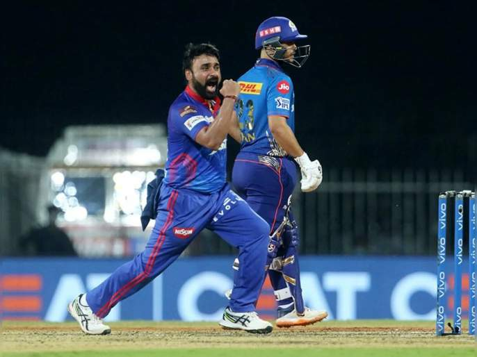 IPL 2021 MI vs DC Live T20 Score: Amit Mishra took 4 wickets, Mumbai Indians9/137 | IPL 2021, MI vs DC T20 Live : अमित मिश्रानं MIची वाट लावली; तगड्या फलंदाजांची फौज माघारी पाठवली!