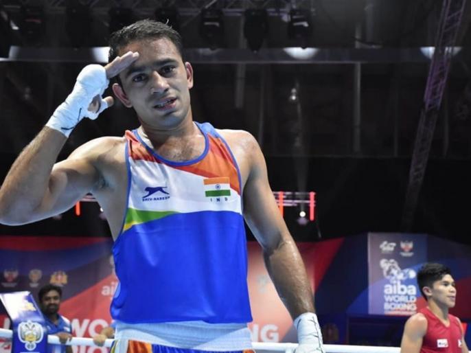 Breaking: India's Amit Pangal won silver medal | Breaking : भारताच्या अमित पांघलने जागतिक स्पर्धेत जिंकले रौप्यपदक