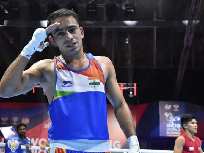 Breaking : Amit Panghal creates history as he becomes 1st Indian male pugilist ever to enter Final of World Boxing Championships | Breaking : भारताच्या अमित पांघलने इतिहास रचला; जागतिक स्पर्धेच्या अंतिम फेरीत प्रवेश केला