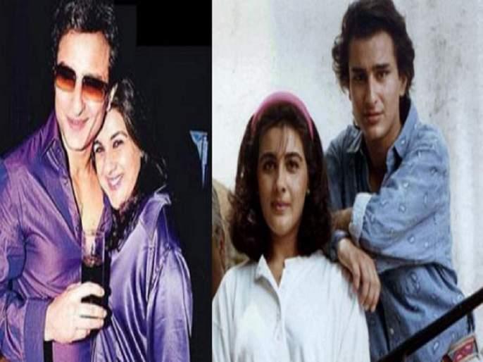 saif ali khan apologize to wife amrita singh in front of camera for this reason | अन् सैफ अली खानने अमृता सिंगची कॅमे-यासमोर मागितली होती माफी, हे होते कारण