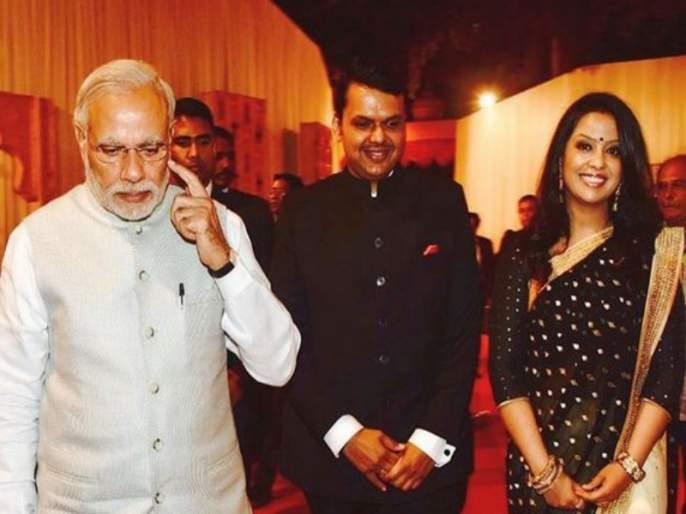 Amruta Fadnavis gives birthday wishes to PM as Father of our Nation | मिसेस मुख्यमंत्र्यांच्यापंतप्रधानांना 'राष्ट्रपिता' म्हणत वाढदिवसाच्याशुभेच्छा