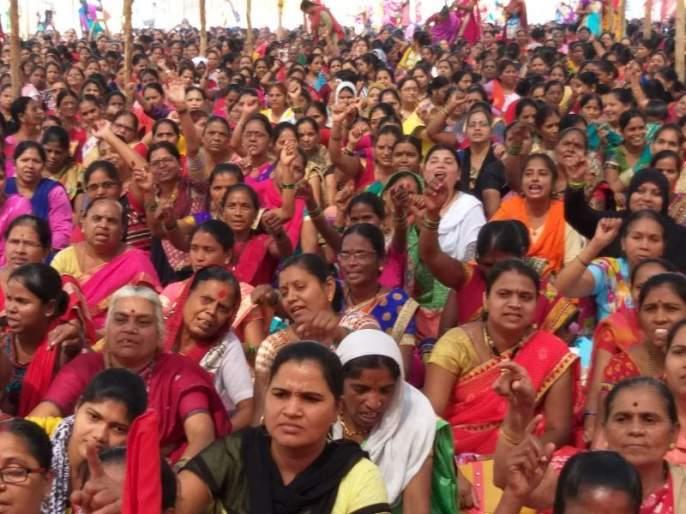Mumbai : JailBharo agitation of Anganwadi workers in Maharashtra | अंगणवाडी कर्मचाऱ्यांचा राज्यभर जेलभरो, मानधन वाढवण्याची मागणी