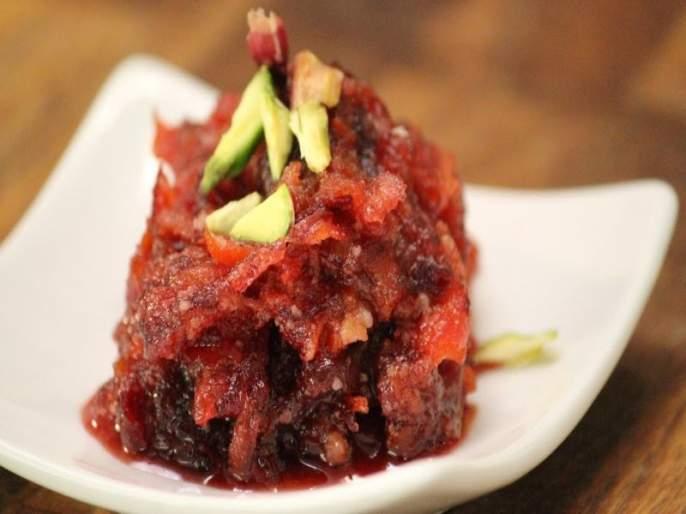 Make delicious apples desert halwa in the winter   थंडीमध्ये पौष्टिक ठरतो सफरचंदाचा हलवा; जाणून घ्या रेसिपी!