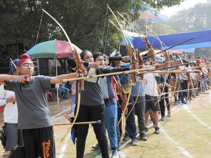 Prabodhan Inter-School Sports Festival: Deepak, Aditi, Arya, Jeevitha, each of the three gold medals | प्रबोधन आंतर-शालेय क्रीडा महोत्सव :दीपक, आदिती, आर्य, जीविधायांना तिरंदाजीत प्रत्येकी तीन सुवर्णपदके