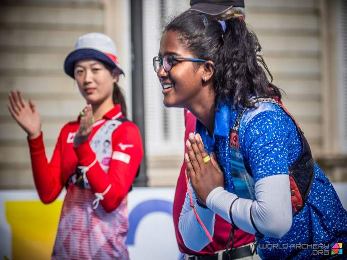KOMALIKA BARI BECOMES THIRD INDIAN ARCHER TO HOLD WORLD ARCHERY CHAMPION CROWN | 17 वर्षीय कोमालिकाचा 'सुवर्ण'वेध; जागतिक तिरंदाजीत जेतेपद पटकावणारी तिसरी भारतीय