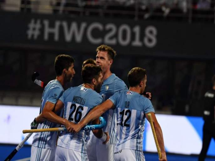 Hockey World Cup 2018: Argentina beat Victoria 4-3 in thrilling game | Hockey World Cup 2018 : थरारक सामन्यात अर्जेंटिनाचा विजय, स्पेनवर 4-3 अशी मात