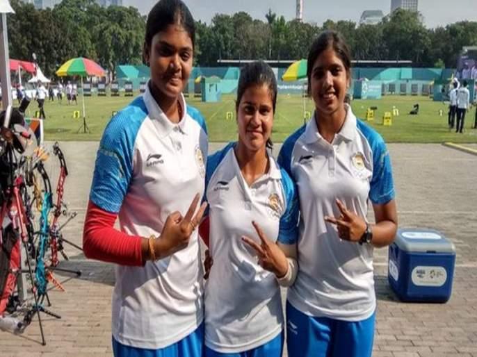 Asian Games 2018: Silver medal for Indian women archers | Asian Games 2018 : भारतीय महिला तिरंदाजांना रौप्यपदक
