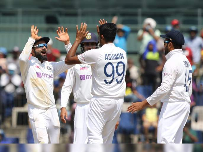 IND vs ENG, 2nd Test : R Ashwin become the second-highest wicket-taker in Tests in India | India vs England, 2nd Test : इंग्लंडचा निम्मा संघ तंबूत, आर अश्विननं मोडला कपिल देव, हरभजन सिंग यांचा विक्रम