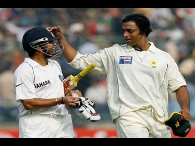 Mohammad Asif claims Shoaib Akhtar's pace forced Sachin Tendulkar to close his eyes svg | शोएब अख्तरच्या बाऊंसरवर घाबरला होता सचिन तेंडुलकर, बंद केले डोळे; पाकिस्तानी गोलंदाजाचा दावा