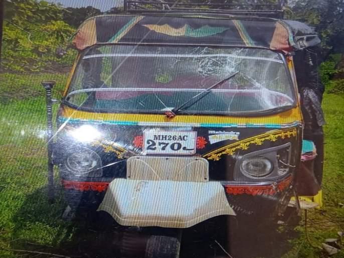 Autorickshaw accident after driver's release; Old woman killed   चालकाचा ताबा सुटल्याने ऑटोरिक्षा उलटला; वृध्द महिला ठार