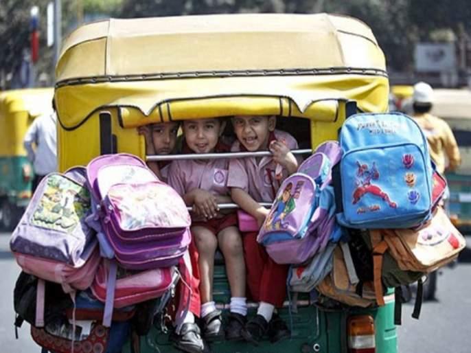 Student transportation policy of Rickshaw ignoring | रिक्षा विद्यार्थी वाहतुक धोरण दुर्लक्षित