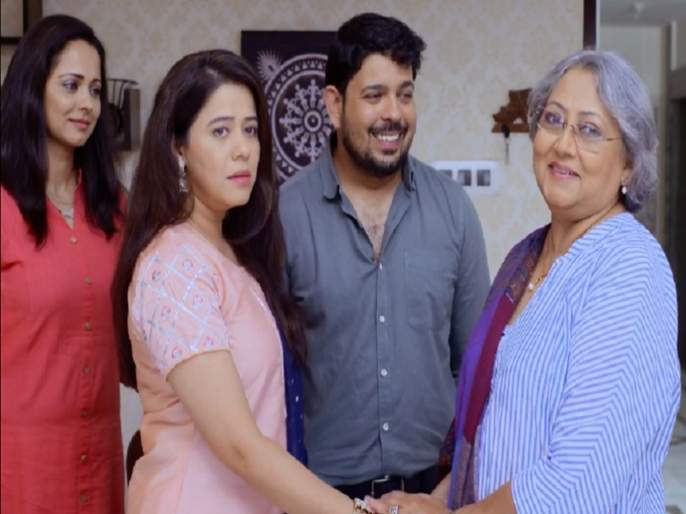 vandana pandit comeback in acting after 40 years, essaying saumitra mother role in mazya navryachi bayko | माझ्या नवऱ्याची बायकोतील सौमित्रची आई आहे एकेकाळची मराठीतील प्रसिद्ध अभिनेत्री, ओळखा पाहू कोण आहे ही?