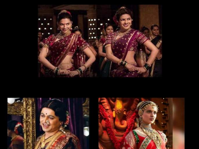artist Asha Malapekar and her work about film industry to dress up Nauvari saree | ऐतिहसिक कलाकृतींना नऊवारीची झालर ; मराठमोळी संस्कृती पोहोचवलीजगभर