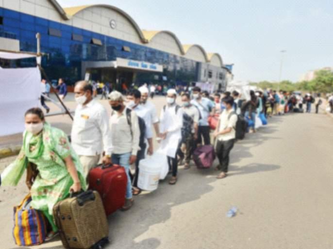 CoronaVirus News: The rush from Mumbai to the village continues | CoronaVirus News: मुंबईतून गावी जाण्याची धावपळ सुरूच