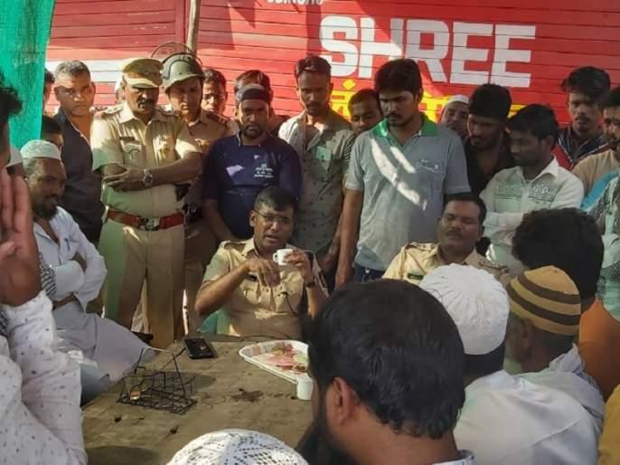 Police Superintendent talks on 'tea pay talks'; An appeal to maintain social harmony in Beed   'चाय पे चर्चा' करत पोलीस अधीक्षकांनी साधला संवाद; सामाजिक सलोखा राखण्याचे केले आवाहन